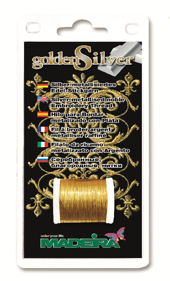 GOLDENSILVER EMBROIDERY 100m GOLD