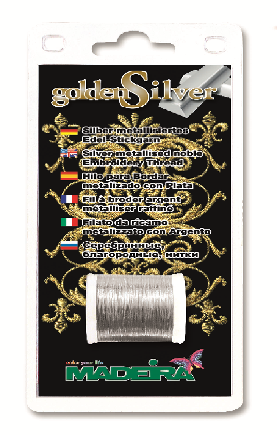 GOLDENSILVER EMBROIDERY 100m  SILVER