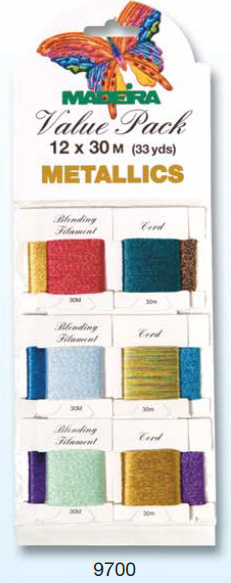 VALUE PACK METALLICS 12 X 30M